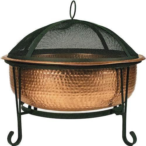 Global Outdoors Genuine Copper Fire Pit