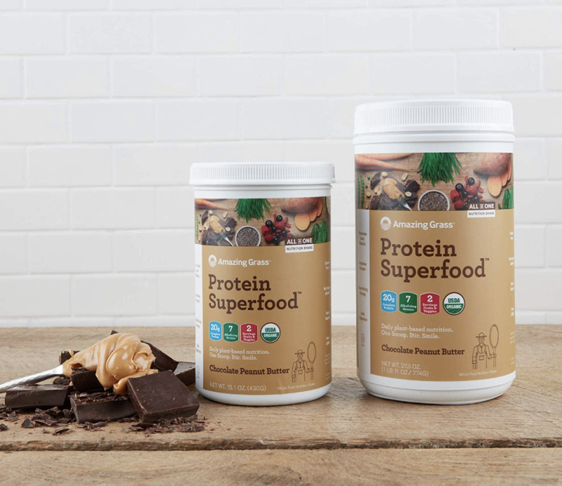 Amazing Grass Protein Superfood: Organic Vegan Protein Powder. (Photo: Amazon)