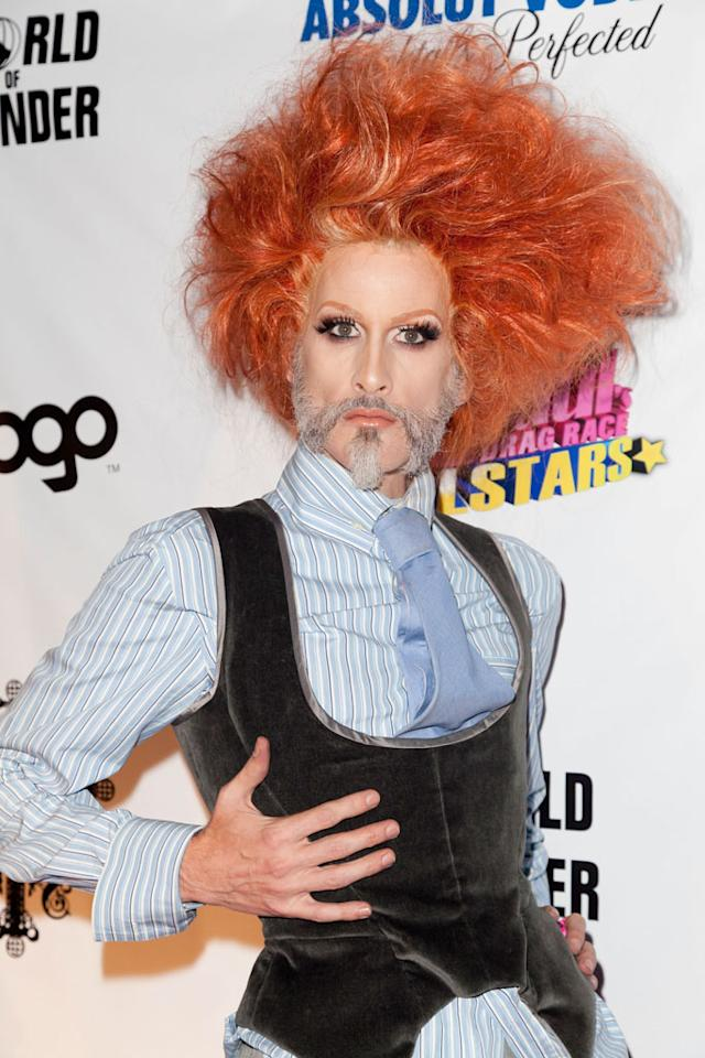 "Makeup artist/photographer Mathu Andersen arrives at the ""RuPaul's Drag Race: All Stars"" Premiere Party at The Abbey on October 16, 2012 in West Hollywood, California."