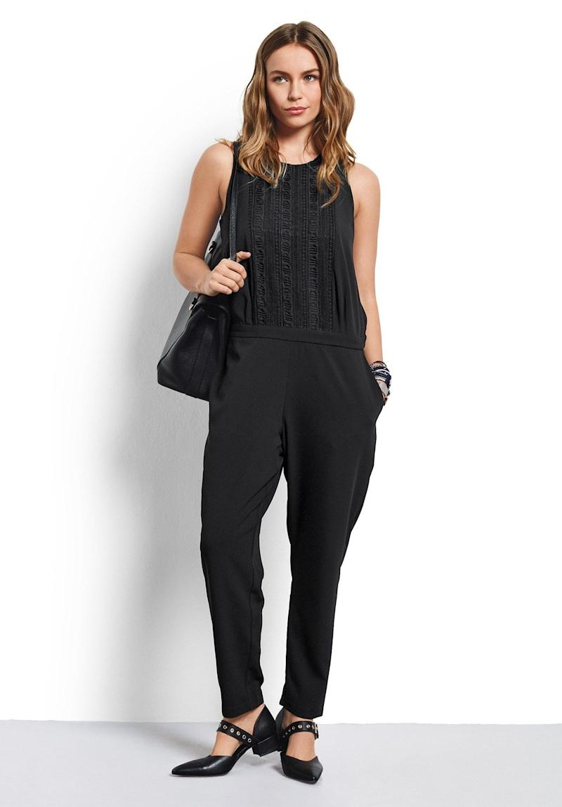 "Get it on <a href=""https://www.hush-uk.com/womenswear/daywear/jumpsuits_playsuits/lace_detail_jumpsuit_black.htm"" target=""_blank"">Hush for $123</a>."
