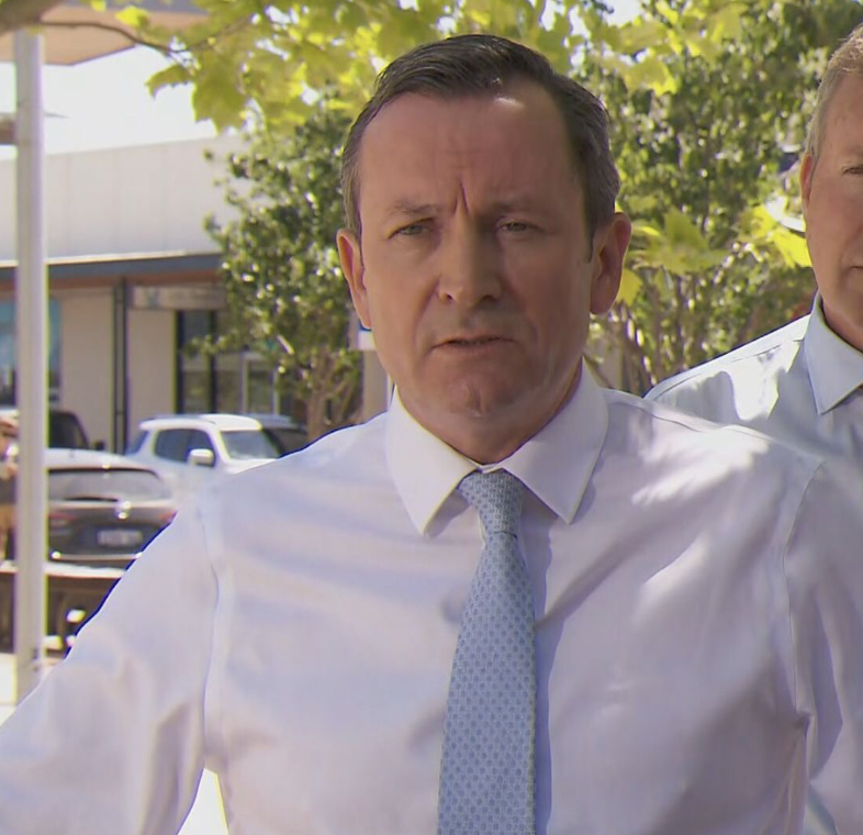 """WA Premier Mark McGowan said NSW should not be viewed as the """"gold standard"""" in terms of handling the pandemic. Source: Nine News"""