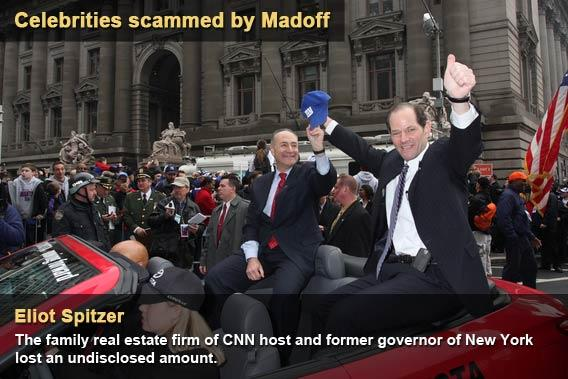Celebrities scammed by Madoff - Eliot Spitzer