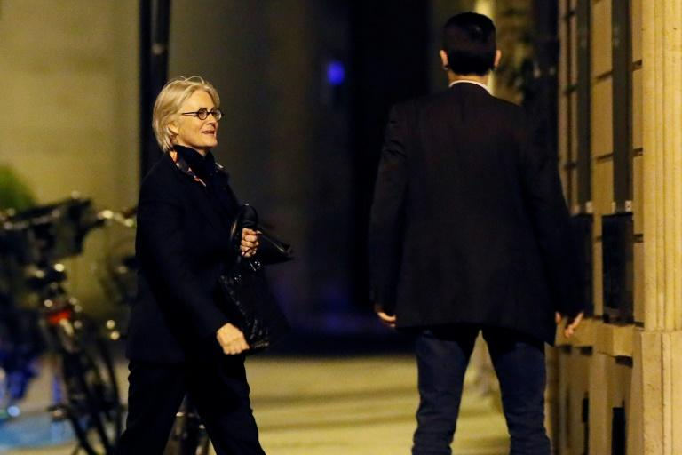 French presidential candidate Francois Fillon's wife, Penelope, seen here outside her Paris apartment, has also been charged in the fake jobs affair