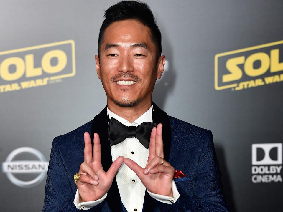 "Leonardo Nam attends the premiere of ""Solo: A Star Wars Story"" in 2018. <p class=""copyright"">Frazer Harrison/Getty Images</p>"