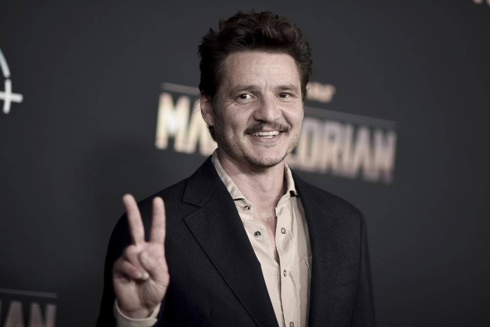 "Pedro Pascal attends the LA premiere of ""The Mandalorian"" on Wednesday, November 13, 2019. (Photo by Richard Shotwell/Invision/AP)"