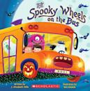 """<p>The classic toddler tune gets a <a class=""""link rapid-noclick-resp"""" href=""""https://www.popsugar.com/Halloween"""" rel=""""nofollow noopener"""" target=""""_blank"""" data-ylk=""""slk:Halloween"""">Halloween</a> makeover in <span><strong>The Spooky Wheels on the Bus</strong></span> ($4). </p>"""