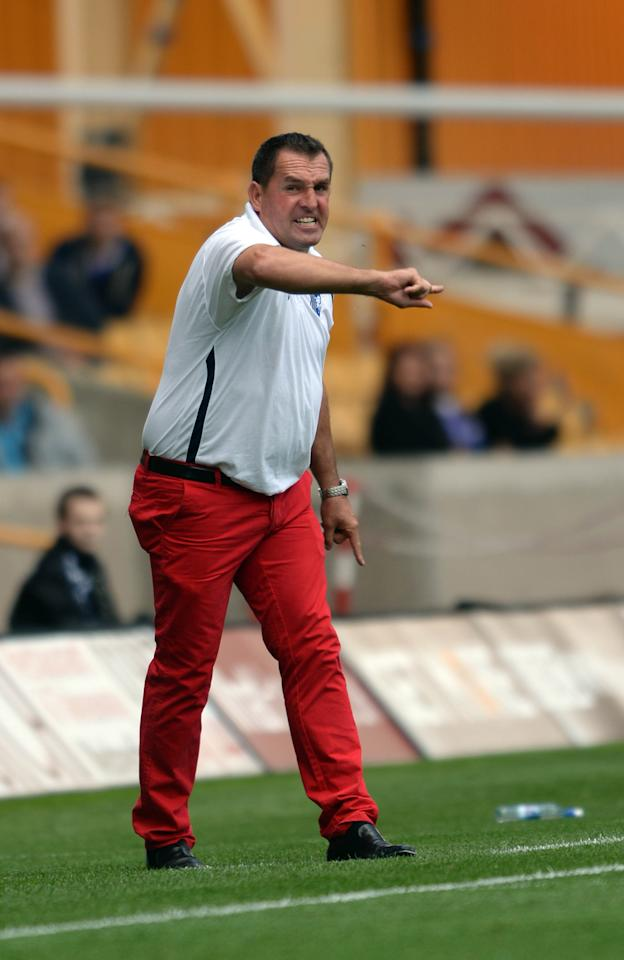 Gillingham's manager Martin Allen during the Sky Bet League One match at the Molineaux, Wolverhampton.