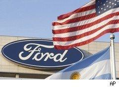 Ford Motor logo on Ford building