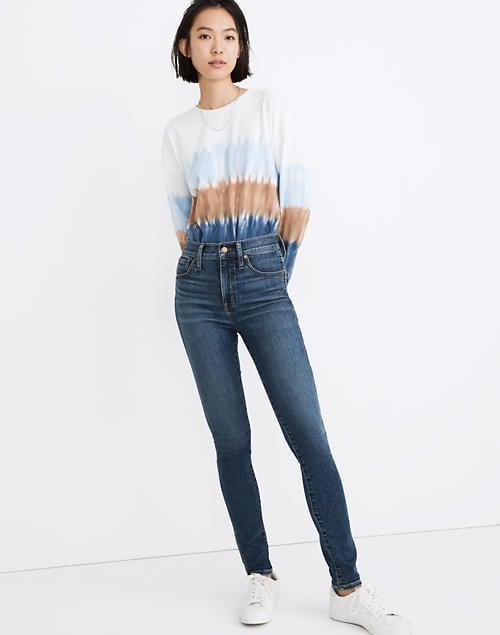 """<p><span>Madewell 10"""" High-Rise Skinny Jeans in Cordell Wash</span> ($99, originally $135)</p>"""
