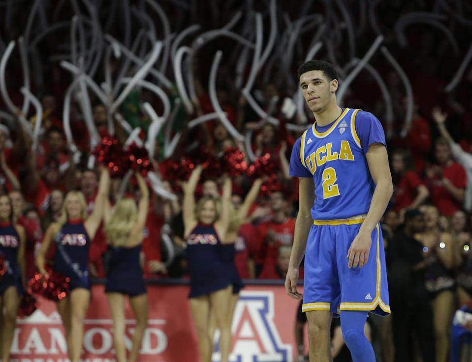 Lonzo Ball is widely considered to be the second-best prospect in the draft. (AP)