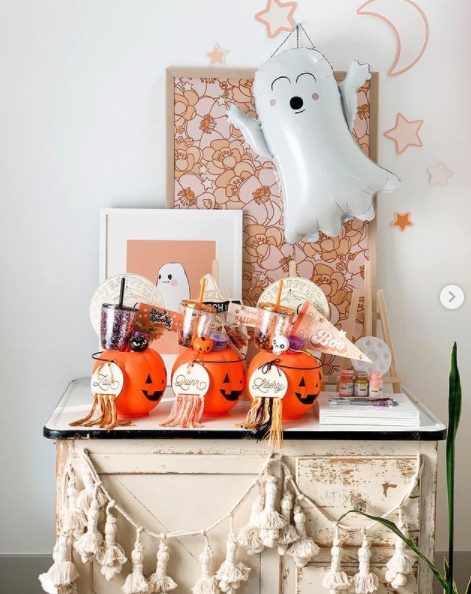 """<p>These baskets are full of classic Halloween elements, like ghosts, black cats, skulls and pumpkins, but they're far from frightening. The stars of the show are the Halloween <a href=""""https://go.redirectingat.com?id=74968X1596630&url=https%3A%2F%2Fwww.etsy.com%2Flisting%2F867653244%2Fcute-halloween-ghosts-tumbler-cute&sref=https%3A%2F%2Fwww.goodhousekeeping.com%2Fholidays%2Fhalloween-ideas%2Fg34288815%2Fspooky-basket-ideas%2F"""" rel=""""nofollow noopener"""" target=""""_blank"""" data-ylk=""""slk:reusable drink tumblers"""" class=""""link rapid-noclick-resp"""">reusable drink tumblers</a>.</p><p><a href=""""https://www.instagram.com/p/CFsyxKXAeGh"""" rel=""""nofollow noopener"""" target=""""_blank"""" data-ylk=""""slk:See more @threadmama_story »"""" class=""""link rapid-noclick-resp""""><em>See more @threadmama_story »</em></a></p>"""
