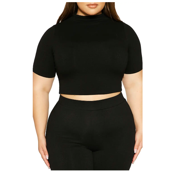 """<p><strong>Naked Wardrobe</strong></p><p>Nordstrom</p><p><strong>$28.00</strong></p><p><a href=""""https://go.redirectingat.com?id=74968X1596630&url=https%3A%2F%2Fwww.nordstrom.com%2Fs%2Fnaked-wardrobe-sweet-t-crop-top-plus-size%2F5886815&sref=https%3A%2F%2Fwww.harpersbazaar.com%2Ffashion%2Ftrends%2Fg36721962%2Fbest-plus-size-crop-tops%2F"""" rel=""""nofollow noopener"""" target=""""_blank"""" data-ylk=""""slk:Shop Now"""" class=""""link rapid-noclick-resp"""">Shop Now</a></p><p>A mock-neck crop top looks inherently sophisticated. </p>"""