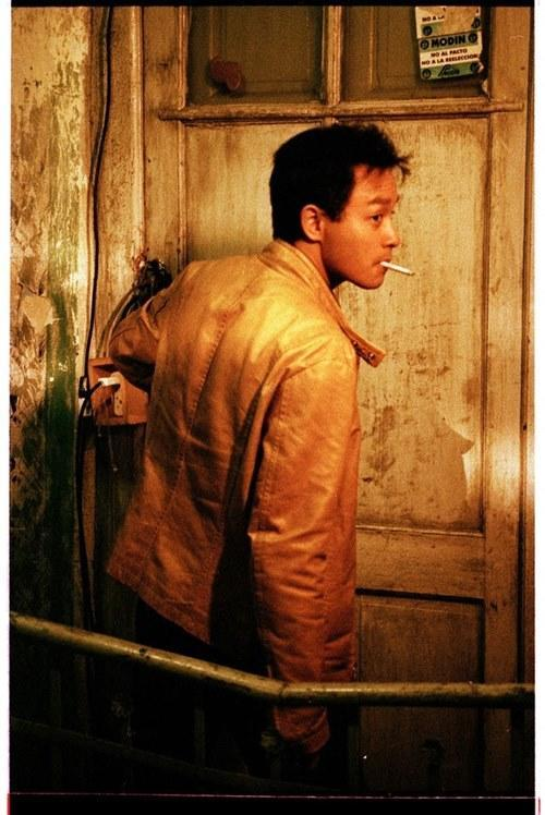 This yellow leather jacket worn by Leslie Cheung in Wong Kar Wai's 'Happy Together' (1997) was auctioned