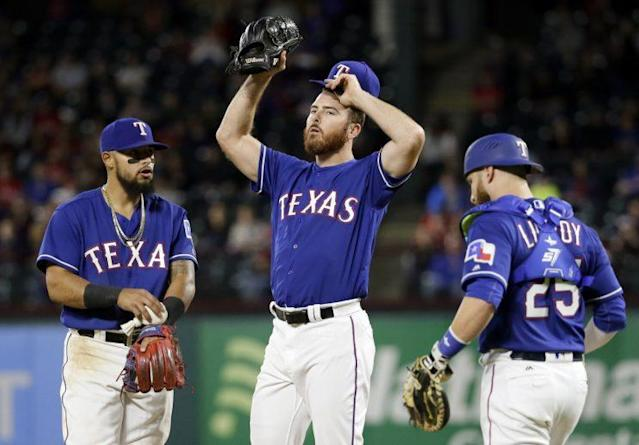 The Rangers bullpen has put them in a bad place to start 2017. (AP)