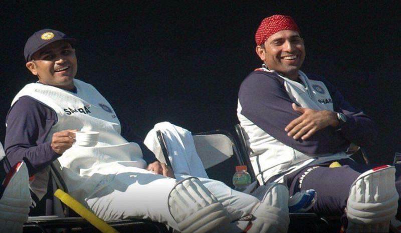 VVS Laxman (right) observed India were at the receiving end of umpiring mistakes in the 2008 Sydney Test. (Image Source: VVS Laxman/Twitter)