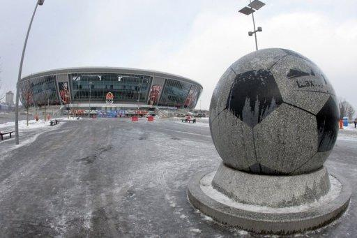 Shakhtar Donetsk's stadium in eastern Ukraine on January 24, 2011. Donetsk is surrounded by slagheaps, was once named Stalino and is a gritty industrial hub dominated by mining. Yet it is in this unlikely location on the fringes of Europe where for the last few years a legion of Brazilian footballers has prospered