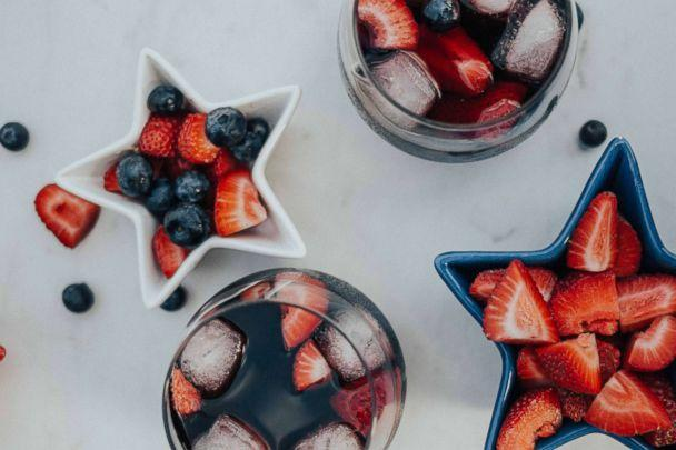 PHOTO: Red wine summer sangria perfect for a 4th of July party. (Heart and Seam Lifestyle Blog)