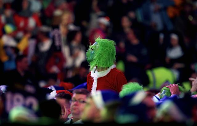 Another Grinch turned up to the event. Getting into the spirit of things, I guess... (Photo by Steven Paston/PA Images via Getty Images)