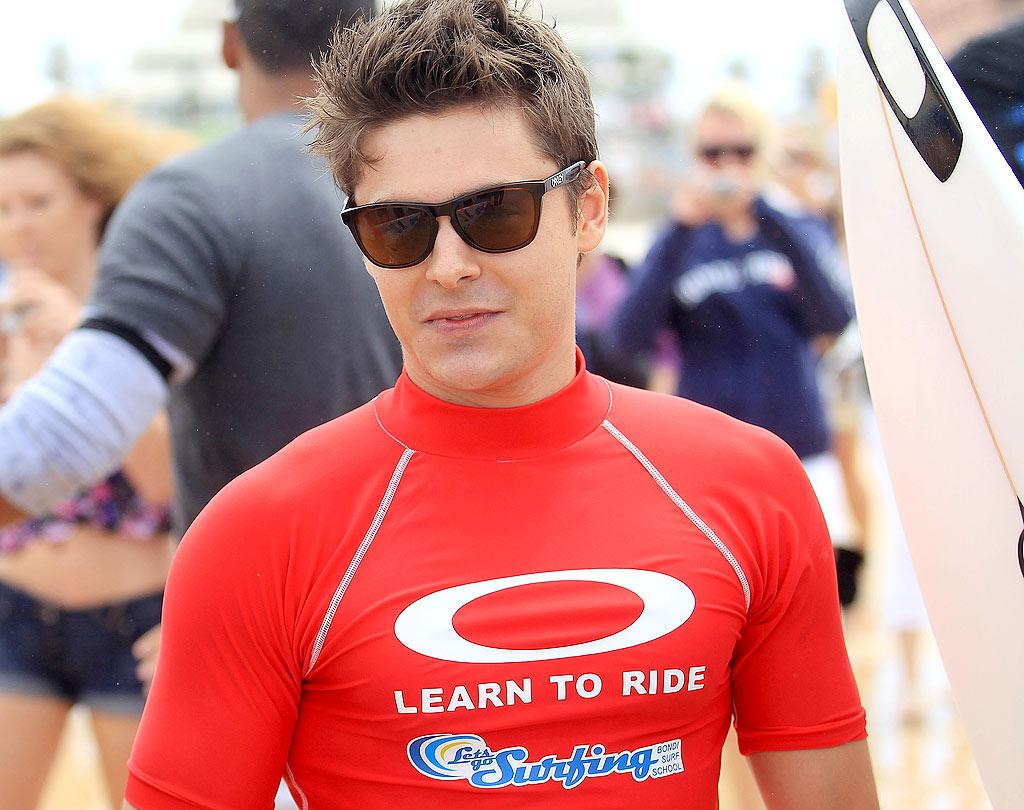 "Is it just us, or does Zac Efron have the best head of hair in Hollywood? Mike Flokis/<a href=""http://www.gettyimages.com/"" target=""new"">GettyImages.com</a> - February 16, 2010"