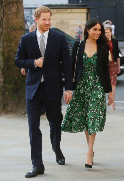 PHOTO: Prince Harry and Meghan Markle arrive to attend a reception at Australia House in London, April 21, 2018. (Alastair Grant, Pool via AP, FILE)