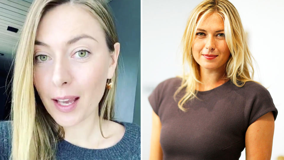 Maria Sharapova, pictured here sharing her phone number with fans online.