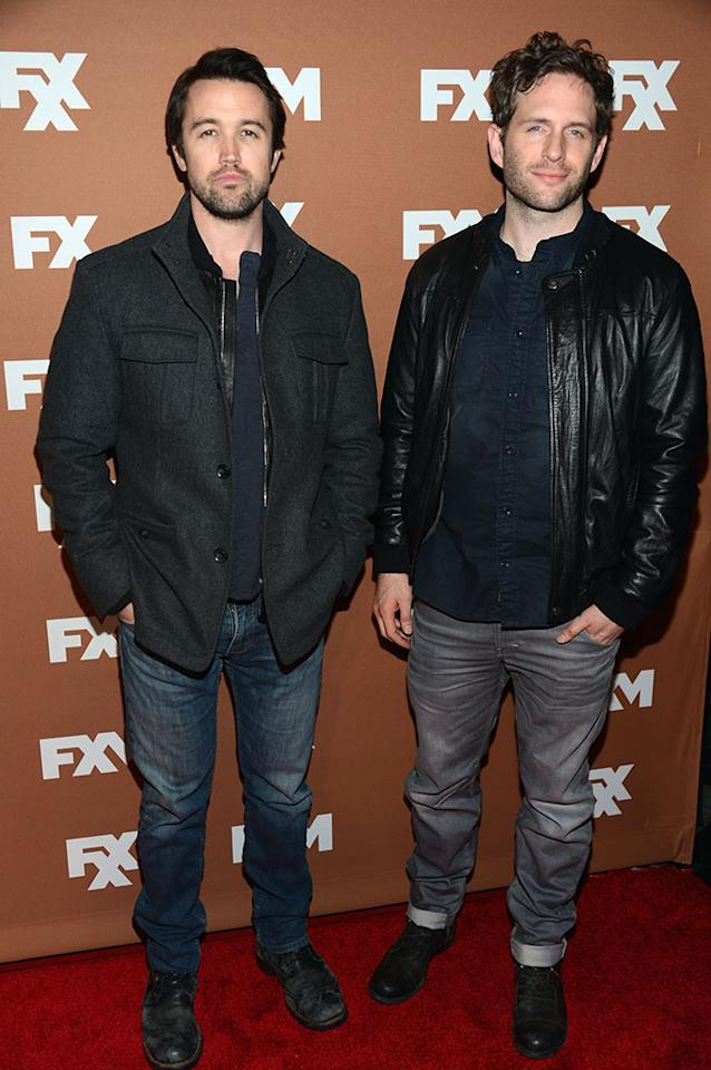 Rob Mcelhenney and Glenn Howerton attend the 2013 FX Upfront Bowling Event at Luxe at Lucky Strike Lanes on March 28, 2013 in New York City.
