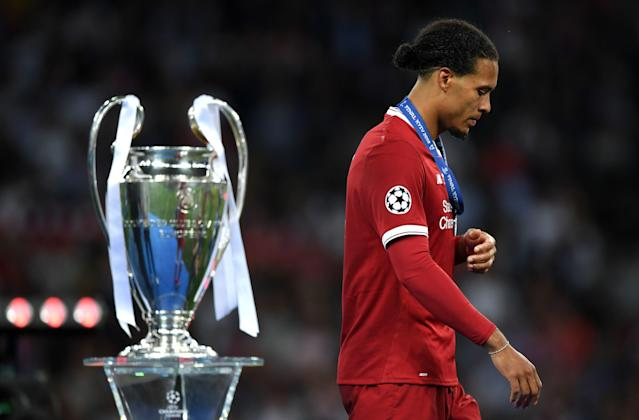 """<a class=""""link rapid-noclick-resp"""" href=""""/soccer/players/380942/"""" data-ylk=""""slk:Virgil van Dijk"""">Virgil van Dijk</a> and Liverpool lost last season's Champions League final to Real Madrid, which won the world's top club competition four times between 2014 and 2018. (Shaun Botterill/Getty)"""