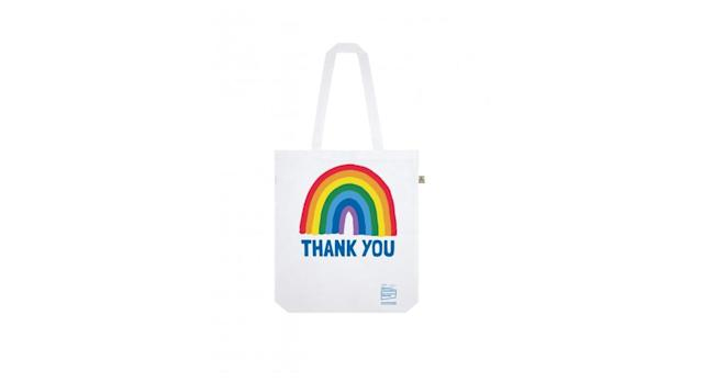 Rainbow Thank You NHS White Rainbow Shopper Tote Bag