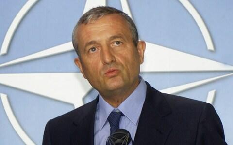<span>François Léotard, the former defence minister, is also accused</span> <span>Credit: YVES LOGGHE/AP </span>