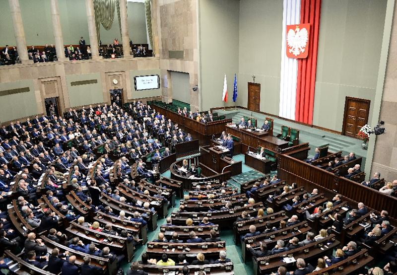 Poland's governing Law and Justice party has said the changes are a response to the EU's concerns, but the opposition and the Supreme Court say the modifications are merely cosmetic (AFP Photo/JANEK SKARZYNSKI)