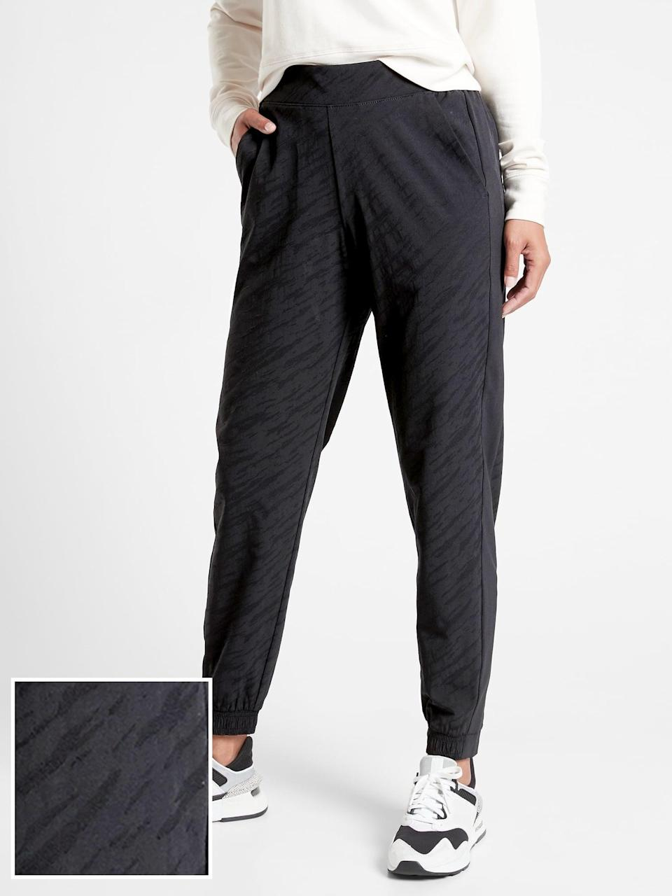 <p>If you like the look of a pant, go for these <span>Athleta Brooklyn Joggers</span> ($98). They're stretchy, lightweight, and so easy to style. You won't want to wear anything else.</p>
