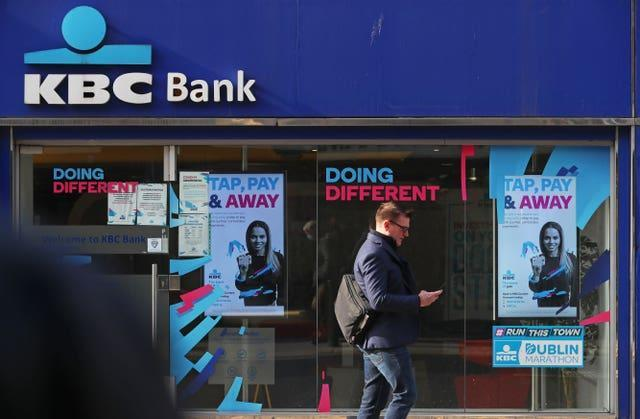 A KBC Bank branch in Dublin city centre