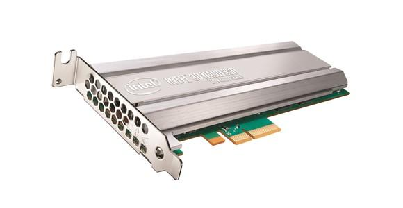 An Intel data center solid state drive.