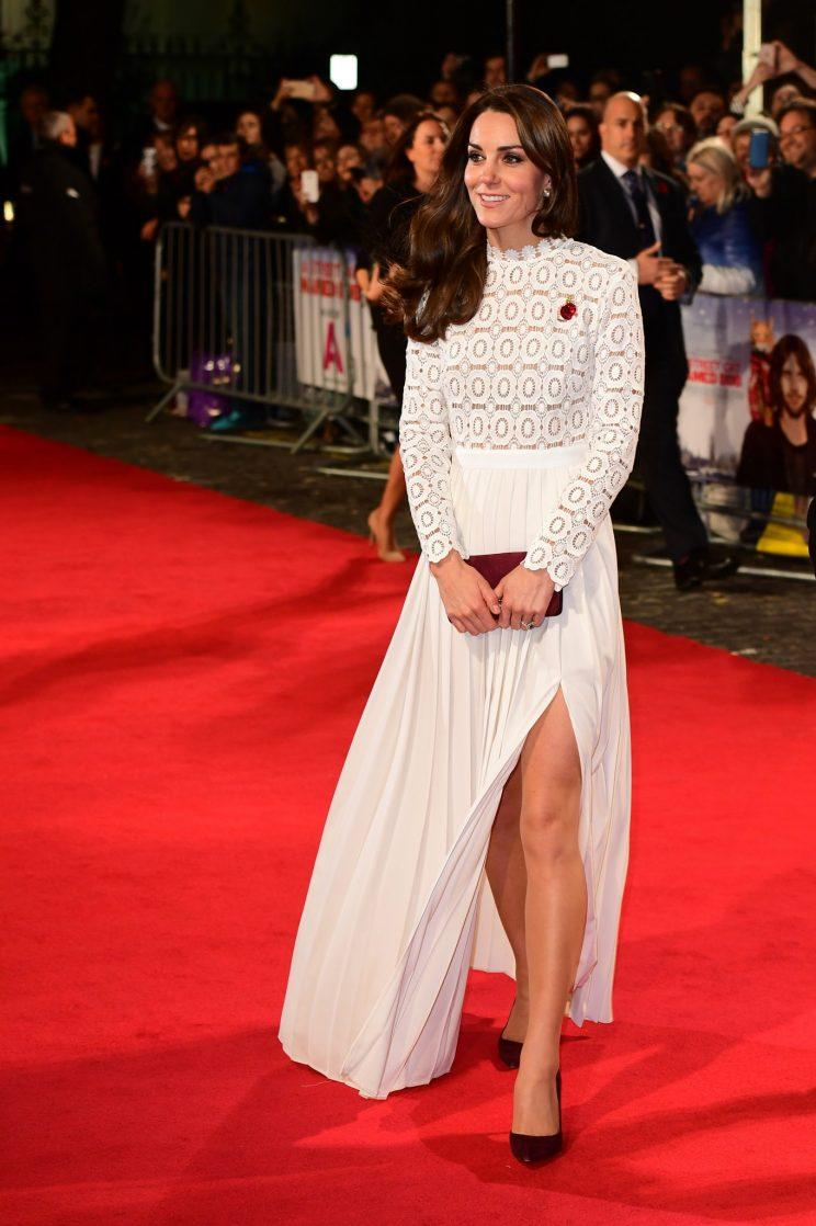 <i>Kate still chose a couple of lower priced looks with this $400 Self Portrait gown being a 2016 highlight (Photo: PA)</i>