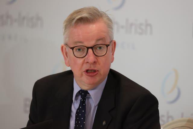 Michael Gove indicated his support for people to show their strength of feeling against prejudice (Liam McBurney/PA)