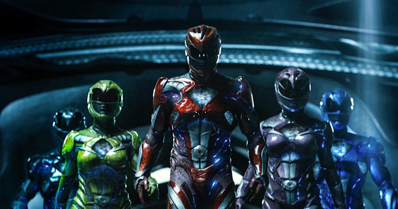"""This image released by Lionsgate shows a scene from, """"Power Rangers."""" (Kimberly French/Lionsgate via AP)"""