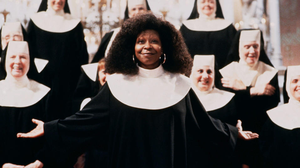 Whoopi Goldberg in 'Sister Act'. (Credit: Buena Vista Pictures)