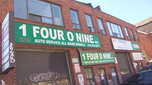 Nine people who lived above this auto repair shop were given 24 hours to move out of their units after Toronto Fire found a lethal level of carbon monoxide in the garage.