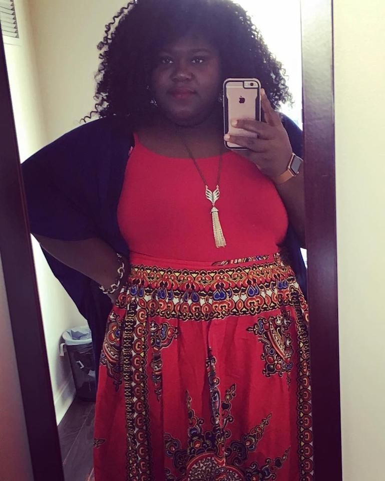 """<p>Although Gabby kept her surgery news to herself, she did give fans some hints about her renewed self-confidence. """"I used to hate mirror selfies,"""" she confessed. """"Now I do them everyday. I'm just too black and fine! I can't help it!"""" (Photo: Instagram) </p>"""