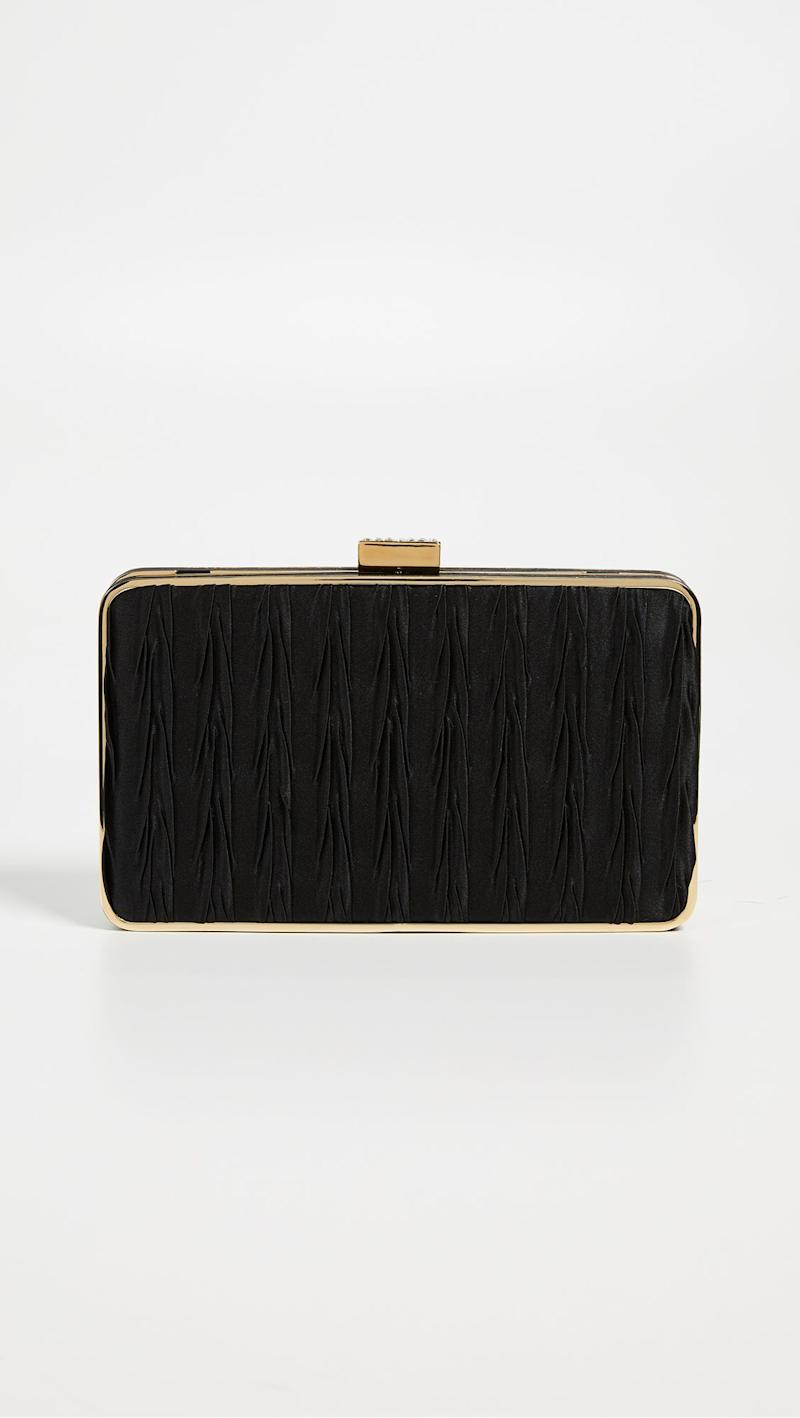 4c28e87f6a Givenchy Black Satin Clutch With Jewelry Clasp ( 1990)