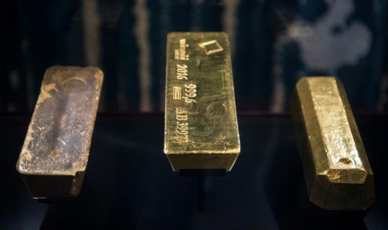 Nothing soothes investor nerves like gold (AFP Photo/Jonathan NACKSTRAND)