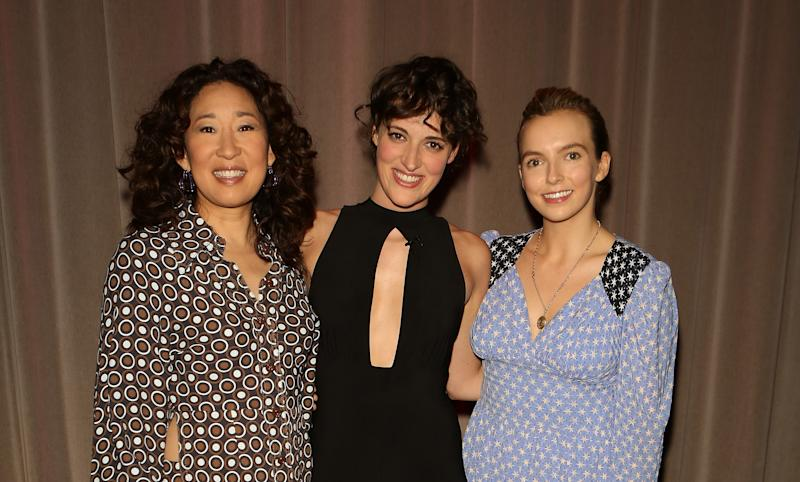 Sandra Oh, Phoebe Waller-Bridge and Jodie Comer
