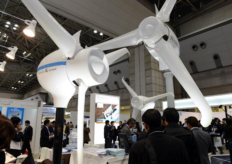 Japan has aggressively promoted use of its energy efficient technologies and infrastructure, such as train systems and power generation stations, to developing nations (AFP Photo/Toshifumi Kitamura)