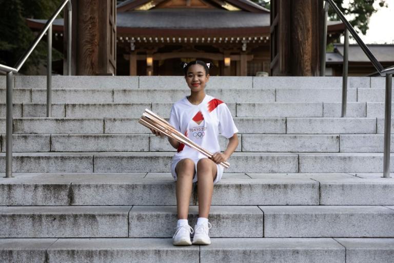 Torchbearer Emili Omuro wanted to draw attention to the bullying and discrimination faced by some biracial Japanese