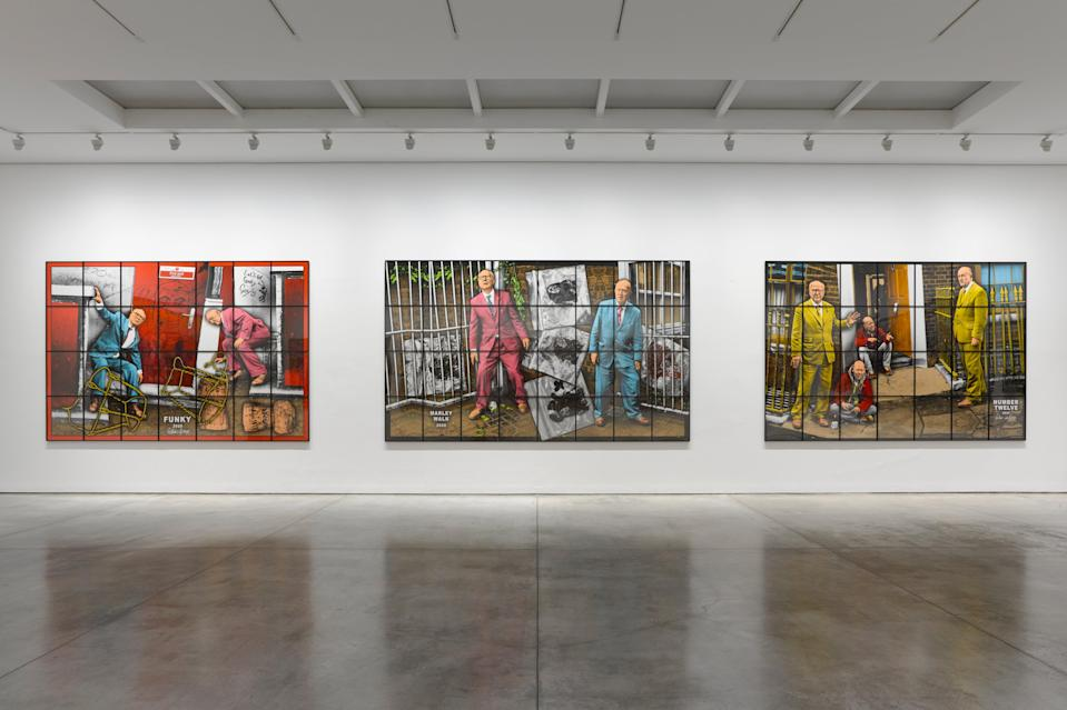 <p>Gilbert & George set off around London at White Cube</p> (Gilbert & George)