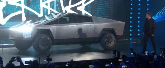 Elon Musk unveiled the Tesla Cybertruck at an event in California (Tesla)