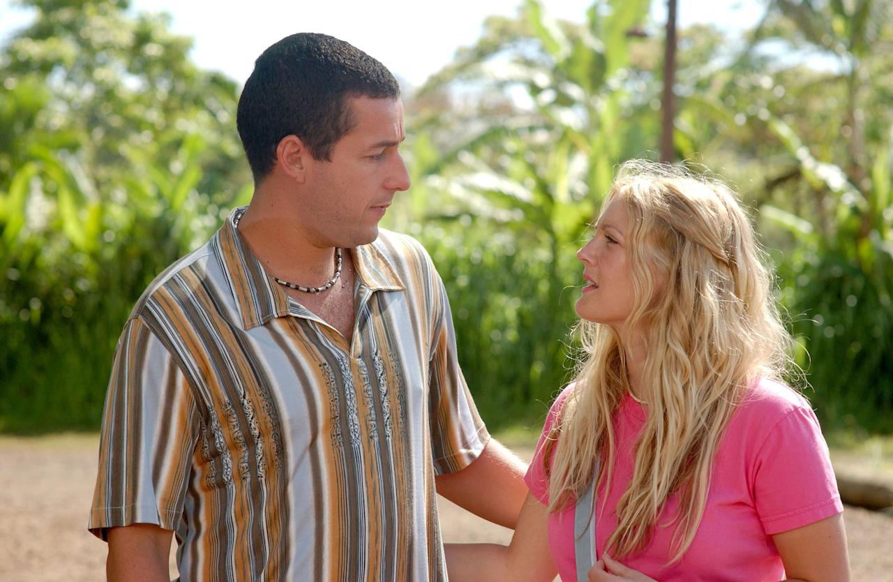 Sandler and Barrymore rejoined forces in 2004, when he played a man who starts his relationship over every day with a woman (Barrymore) who suffers from short-term memory loss.