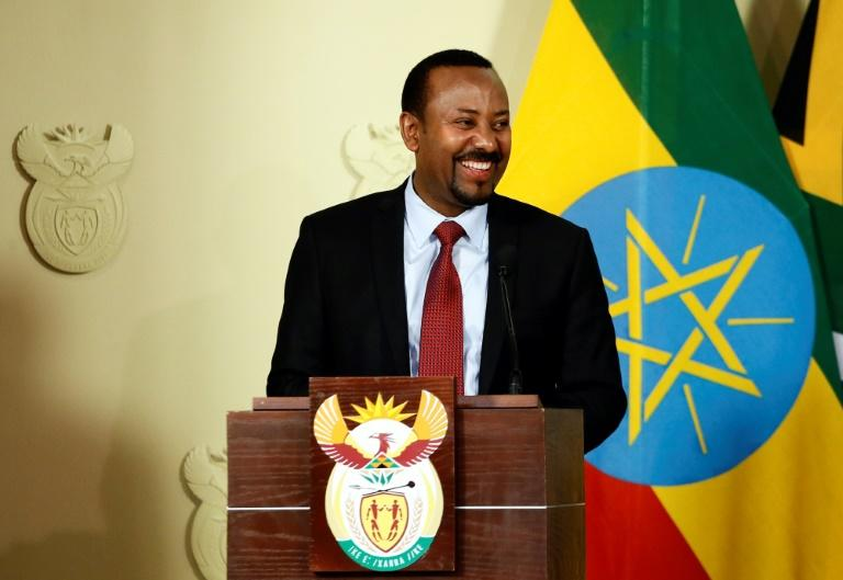 Ethiopian Prime Minister Abiy Ahmed, who won the Nobel Peace Prize for his democratic reforms and reconciliation with Eritrea, speaks on a visit to South Africa in January 2020
