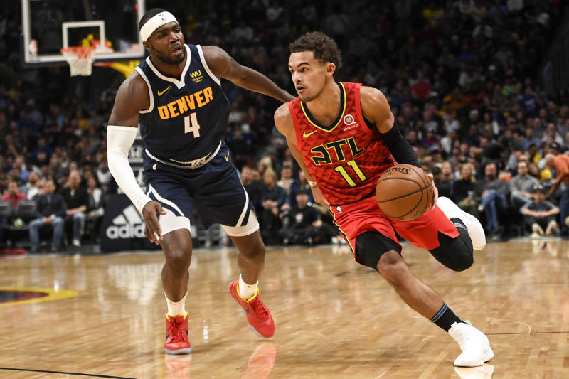 Trae Young had the biggest night of his red-hot start and looks primed for a breakout season. (AAron Ontiveroz/MediaNews Group/The Denver Post via Getty Images)