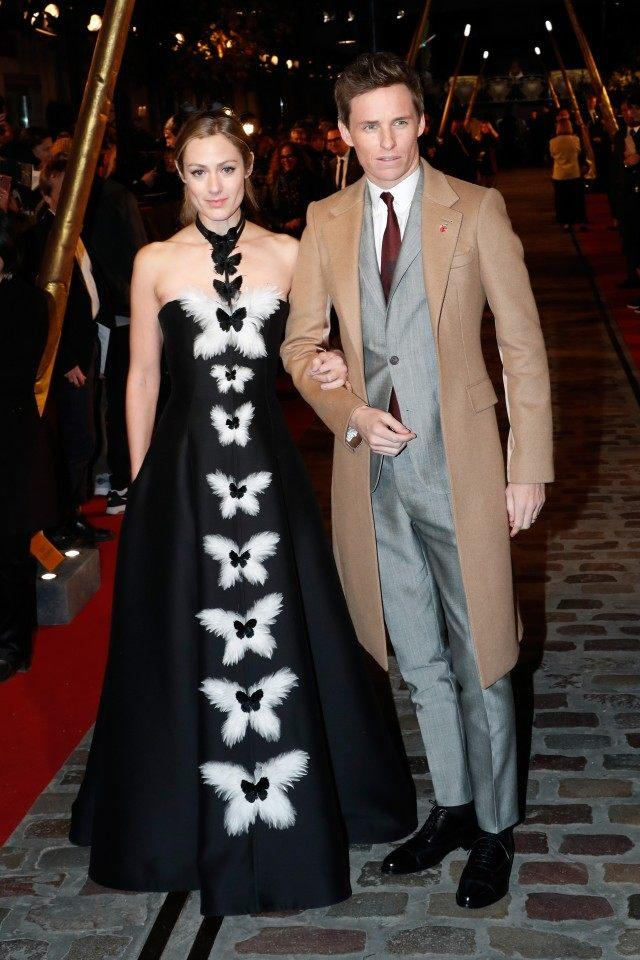 Eddie Redmayne and Hannah Bagshawe at Fantastic Beasts premiere